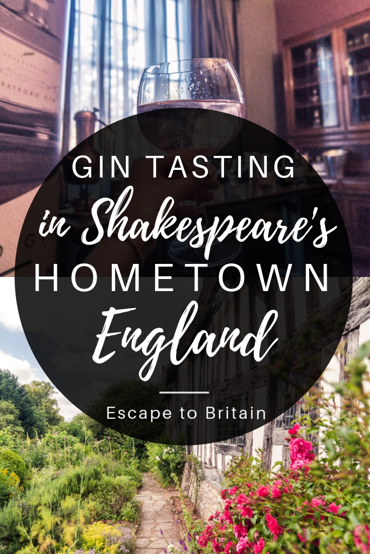 Gin tasting in Shakespeare's hometown, Stratford-upon-Avon, England. Gin Tasting in Stratford-upon-Avon with the Shakespeare Distillery