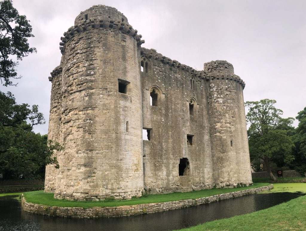 Nunney - A Somerset Village with a Moated Medieval Castle in South West England