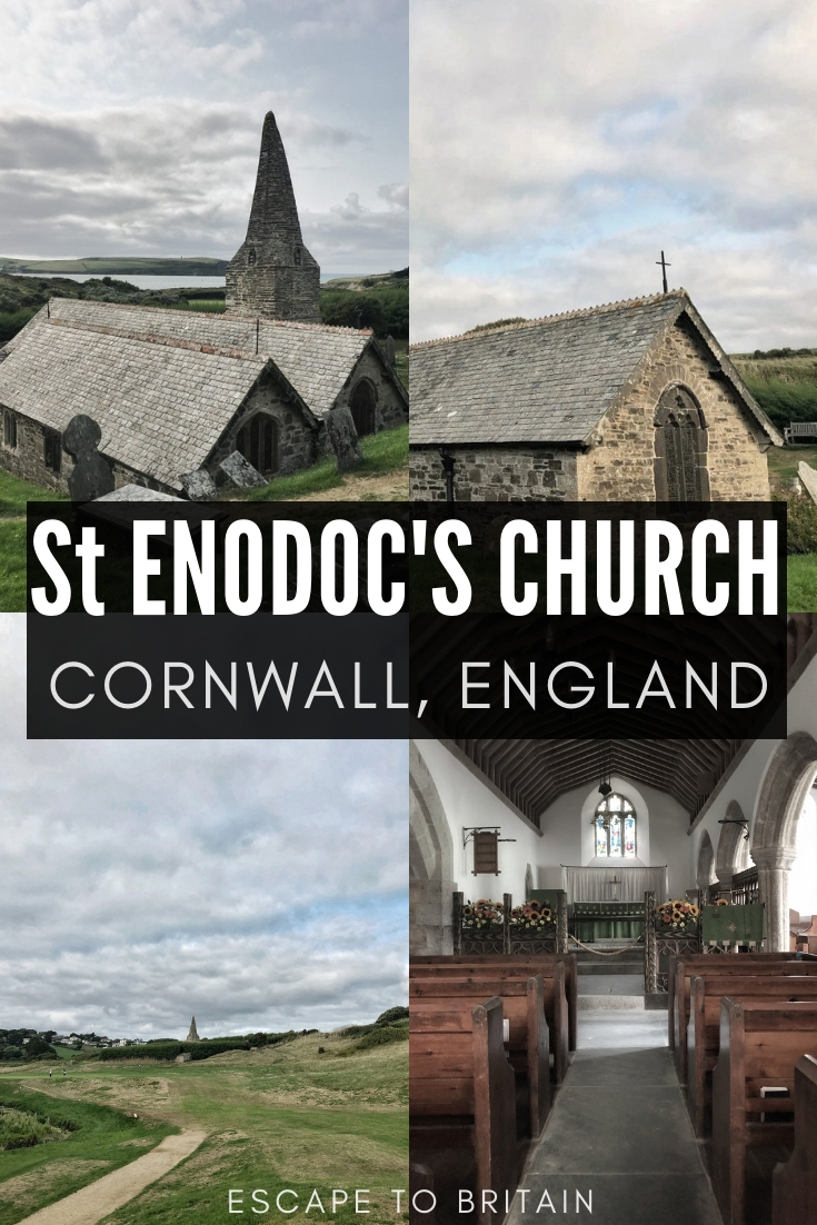 St. Enodoc: A Church Once Buried by The Sands of Time near Rock in North Cornwall. A centuries old ecclesiastical building dedicated to St Wenodoc in the UK