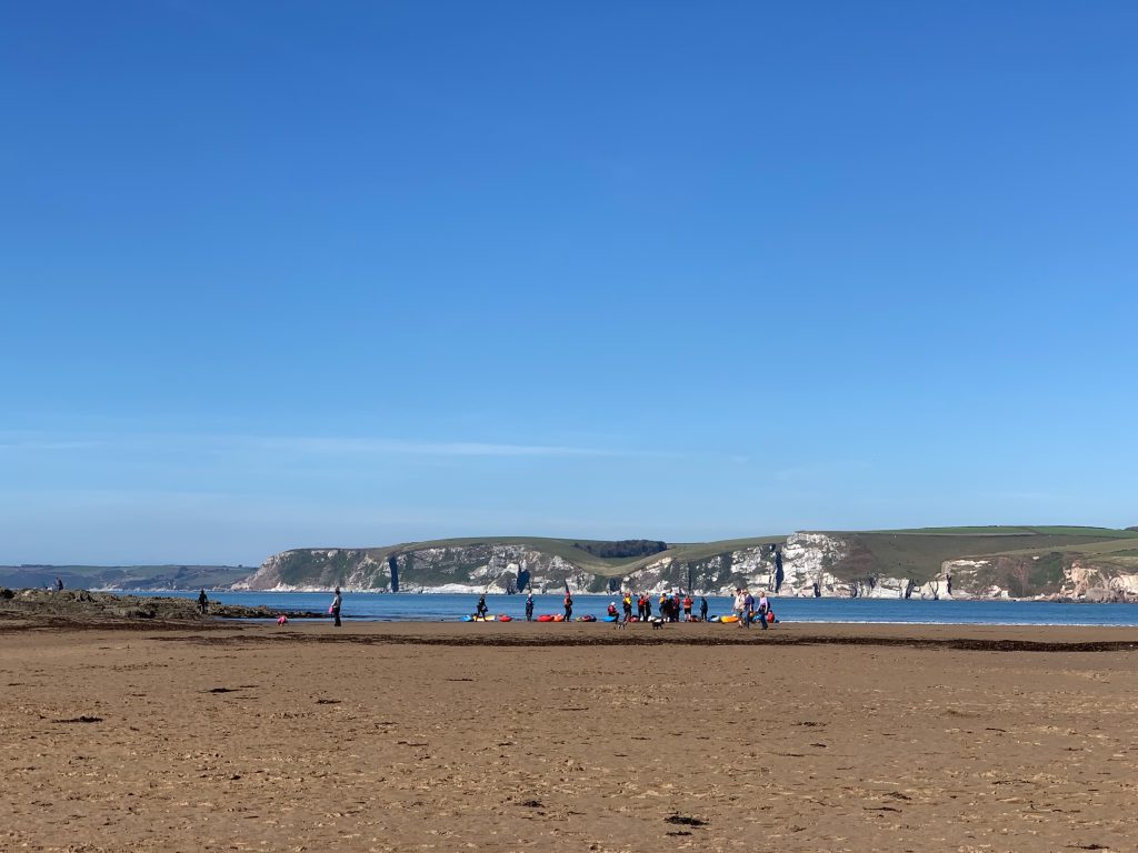 The glorious sandy beach at Bigbury-on-sea and neighbouring Burgh Isaland.