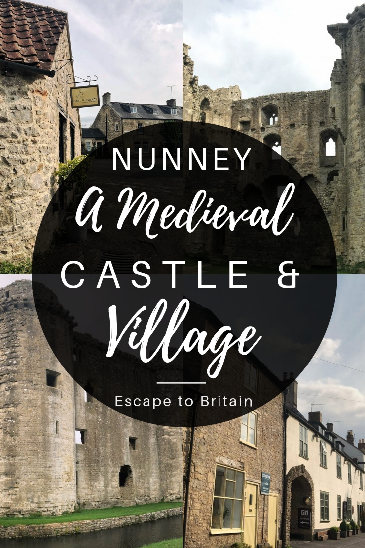 Visiting Nunney; a traditional village in Somerset complete with a moated medieval castle and centuries old church in England