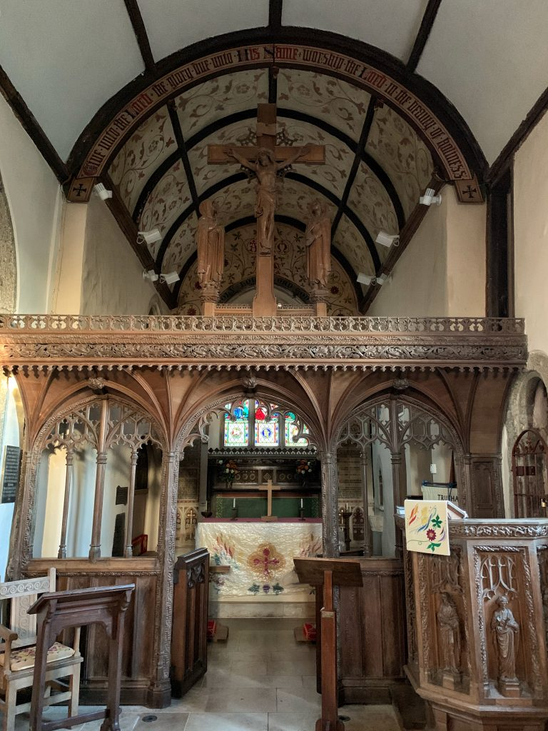 Trusham Church Interior; Devonian church in England, UK