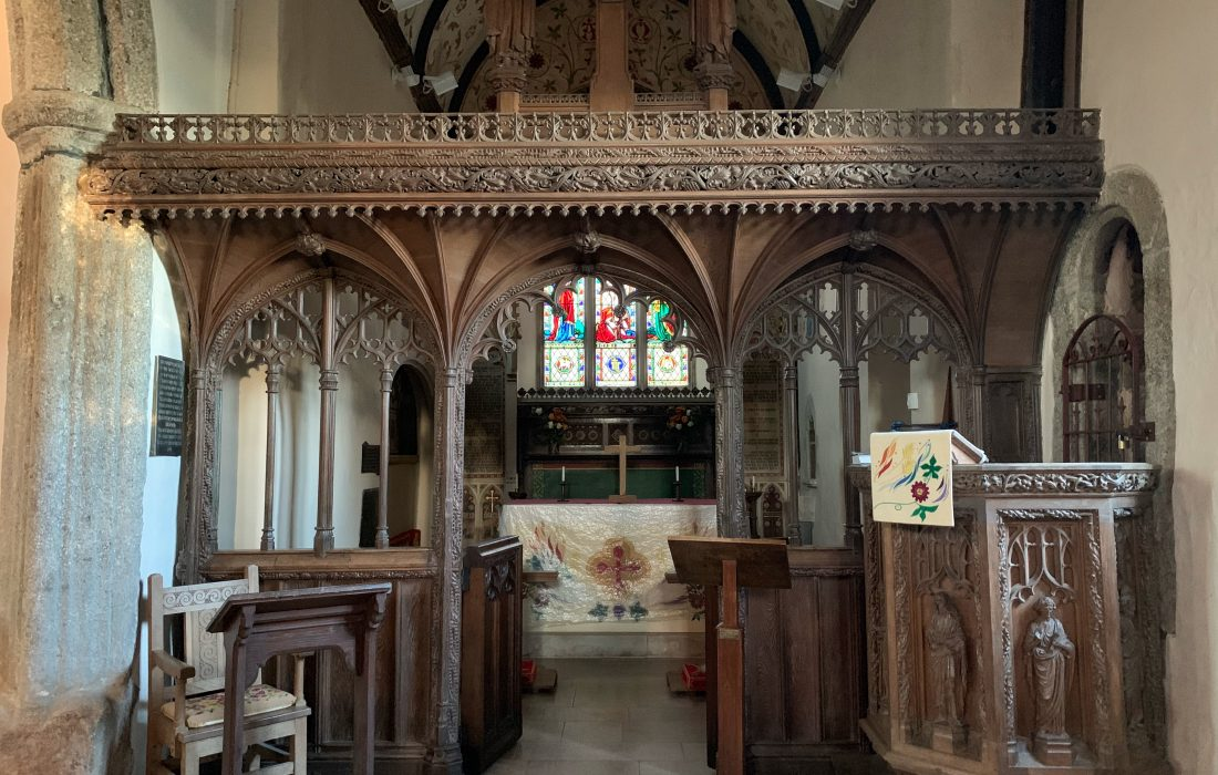 Trusham Church interior, Teign Valley, Devon