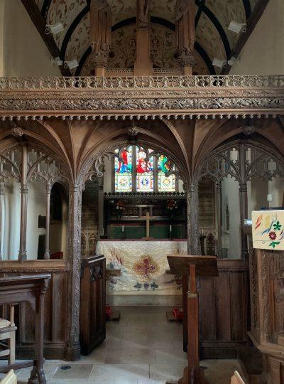 Trusham Church interior, Teign Valley, Devon