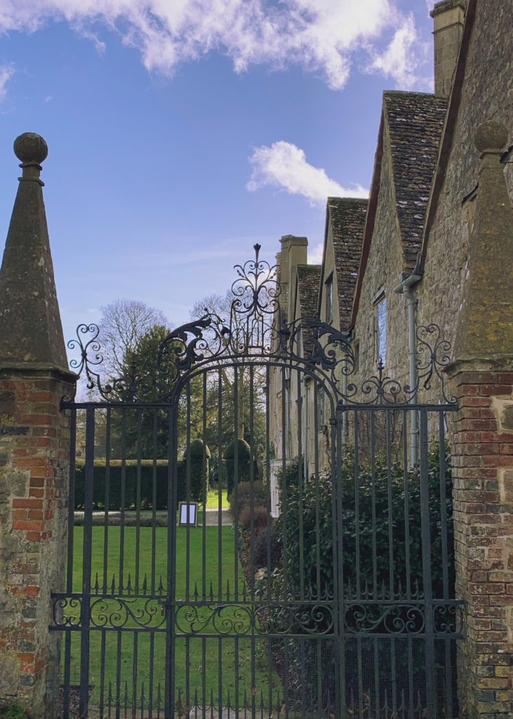 Avebury Manor viewed from a side gate