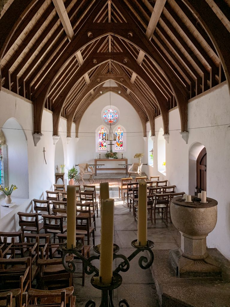 Interior view of Temple Church, Bodmin Moor, Cornwall