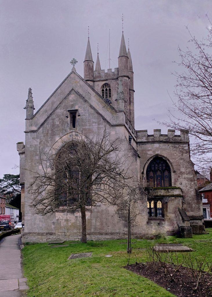 St. Peter's redundant church ,Marlborough,tearoom and Cardinal Wolsey