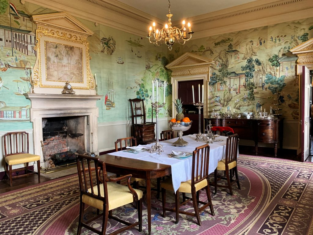 The !8th Century Governor of Jamaica's Dining Room at Avebury Manor