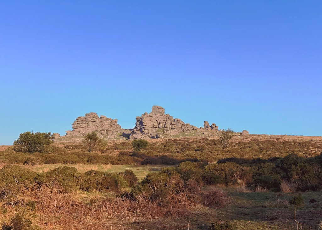 View of Hound Tor, Dartmoor