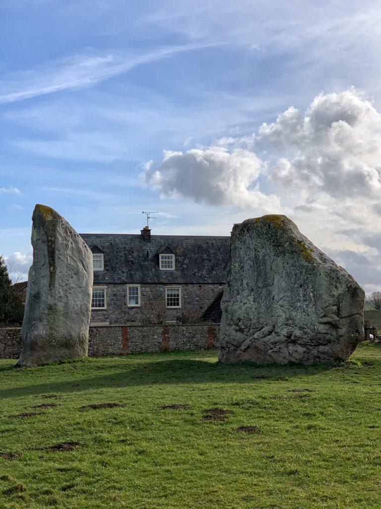 Stones at Avebury Prehistoric Site, Wiltshire
