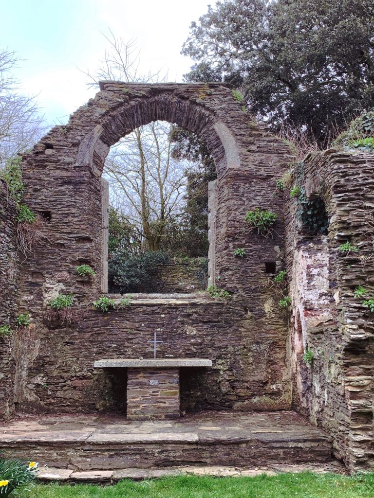 Ruins of the Church of South Huish, South Hams, Devon