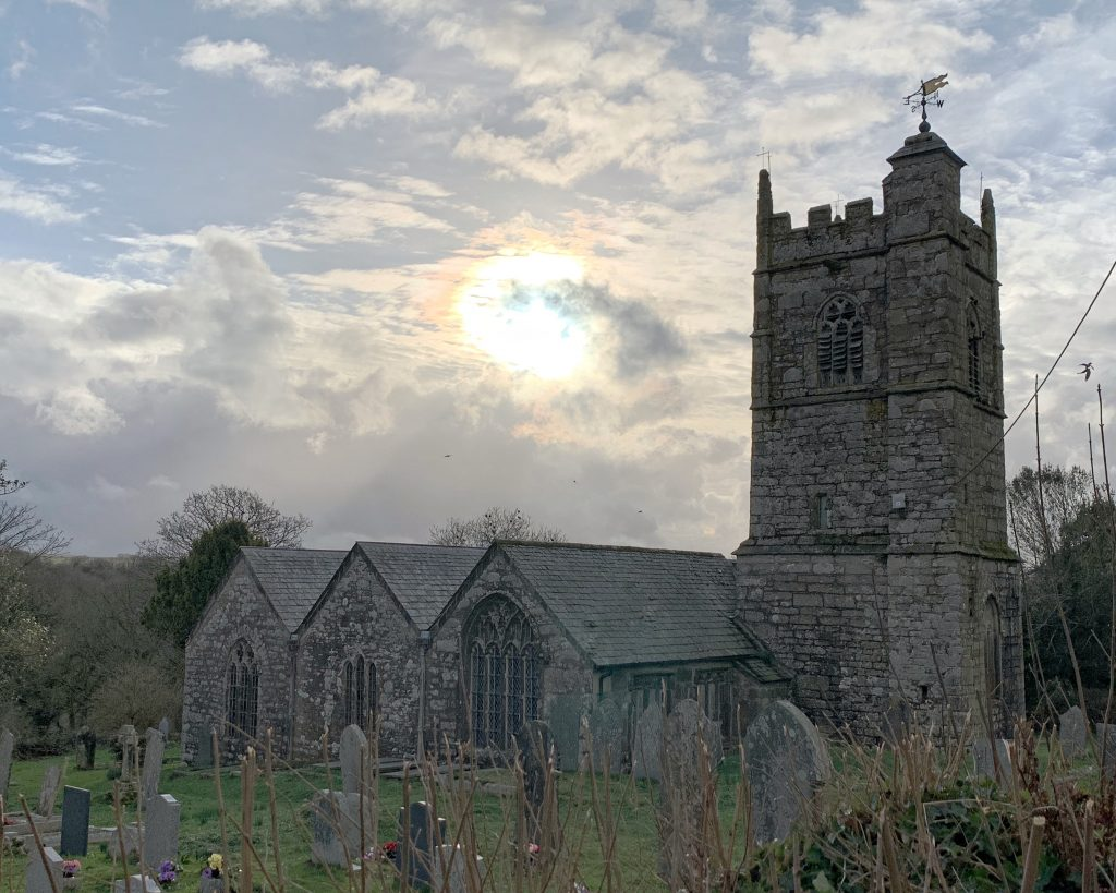 Exterior of the Church of St Protus and St Hyacinth, Blisland, Bodmin Moor, Cornwall