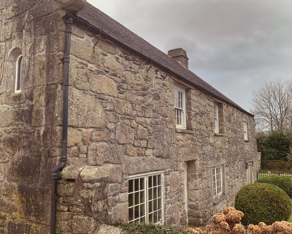 Exterior of Blisland Manor House, Blisland, Bodmin Moor, Cornwall
