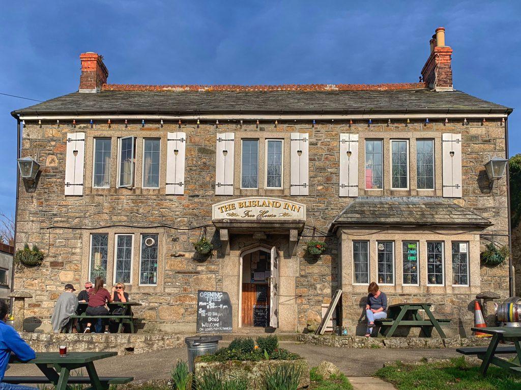 External view of the Blisland Inn, Blisland, Bodmin Moor, Cornwall