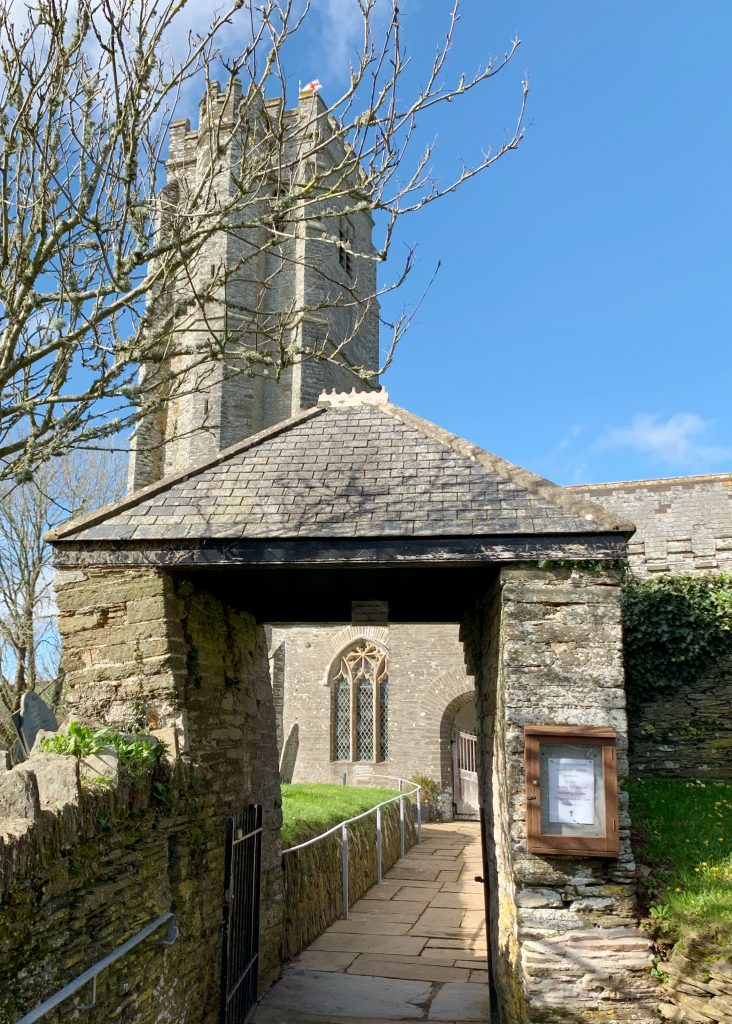 Lynch Gate at the Church of St Martin, Sherford, the South Hams, Devon