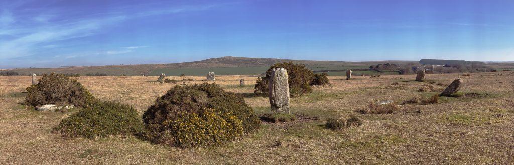 Trippet Stones or Trippet Stone Circle near Blisland, Bodmin Moor, Cornwall