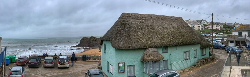Thatched Cottage and Beach at Outer Hope, Hope Cove, South Hams, Devon