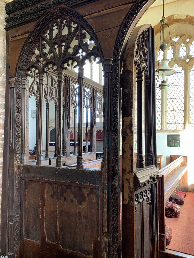 The Rood Screen at the Church of St Martin, Sherford, the South Hams, Devon