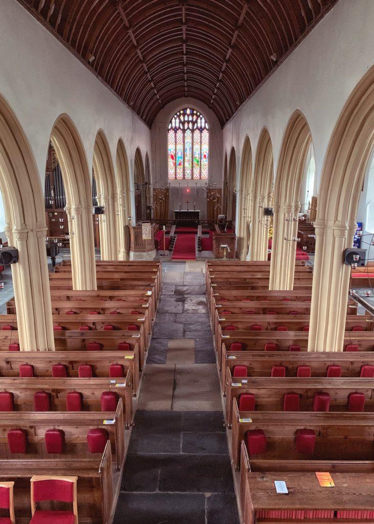 Interior of the Church of All Saints, Malborough, South Hams, Devon