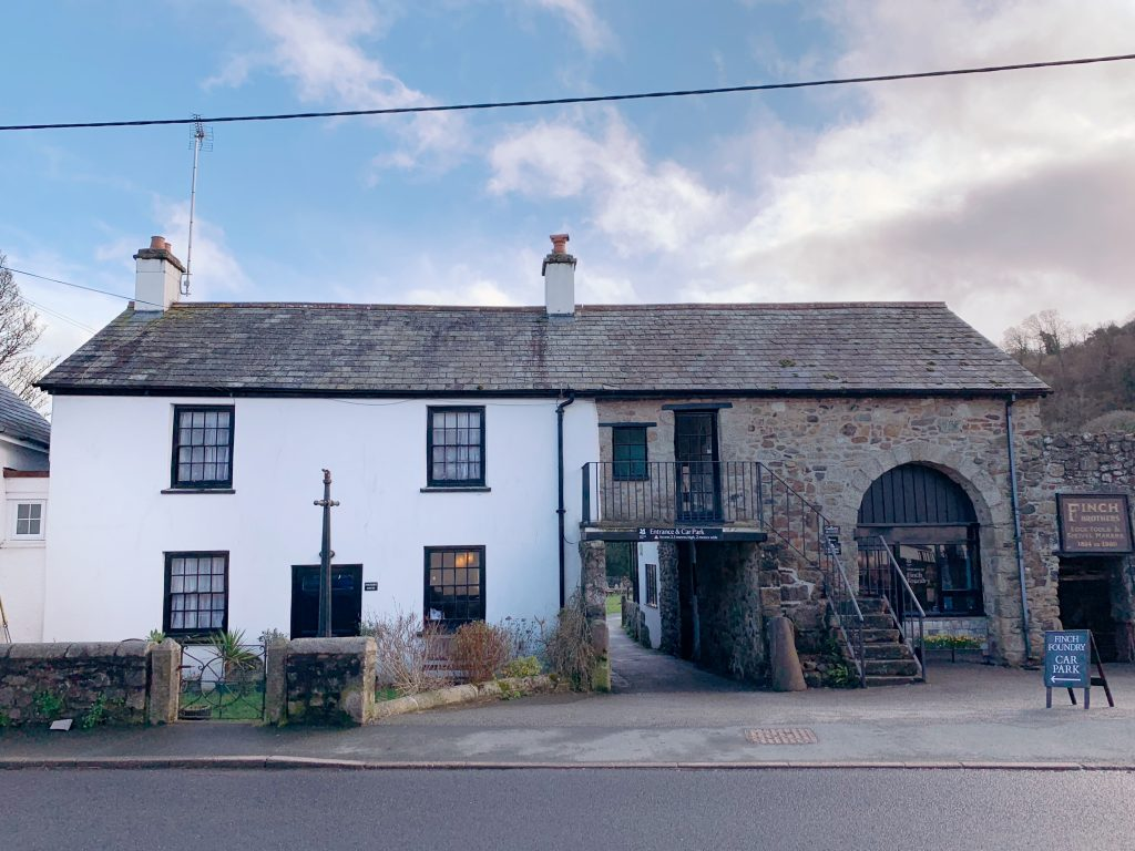 Exterior of Finch Foundry located in the village of Sticklepath, near Okehampton, Devon