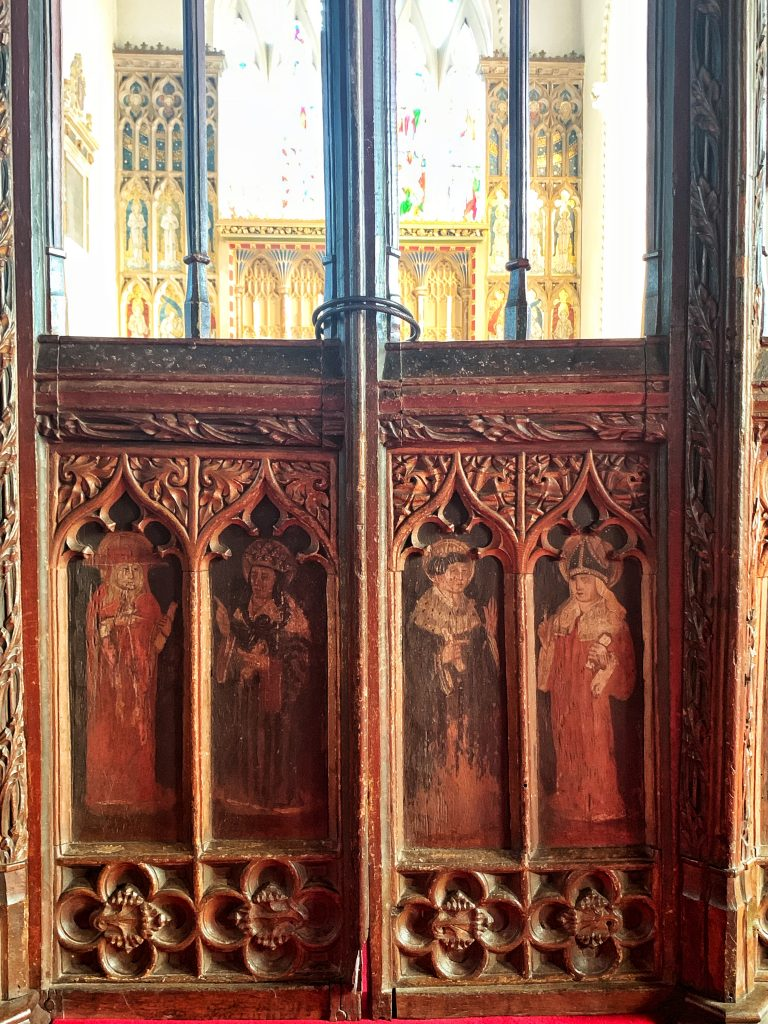 Detail of the Rood Screen at the Church of St Andrew, Kenn, Near Exeter, Devon