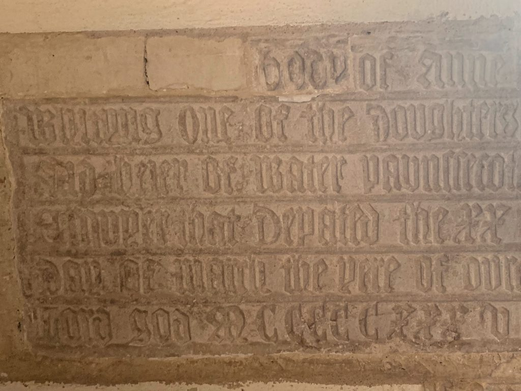 Memorial in the Church of St Mary the Virgin, Compton Pauncefoot, Somerset