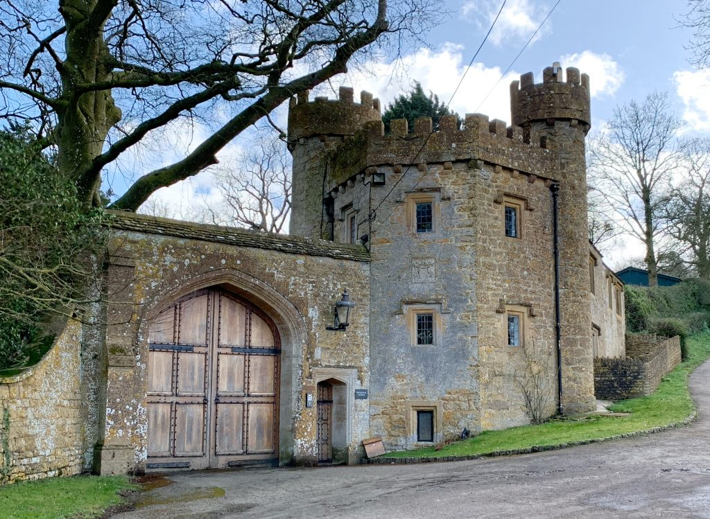 Entrance to Compton Castle at Compton Pauncefoot, Sopmerset