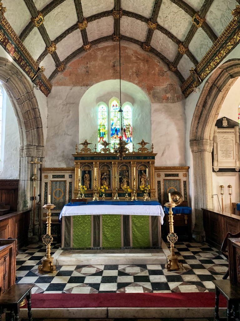 The High Altar in Italian Renaissance Style by F C Eden at the Church of St Protus and St Hyacinth, Blisland, Bodmin Moor, Cornwall