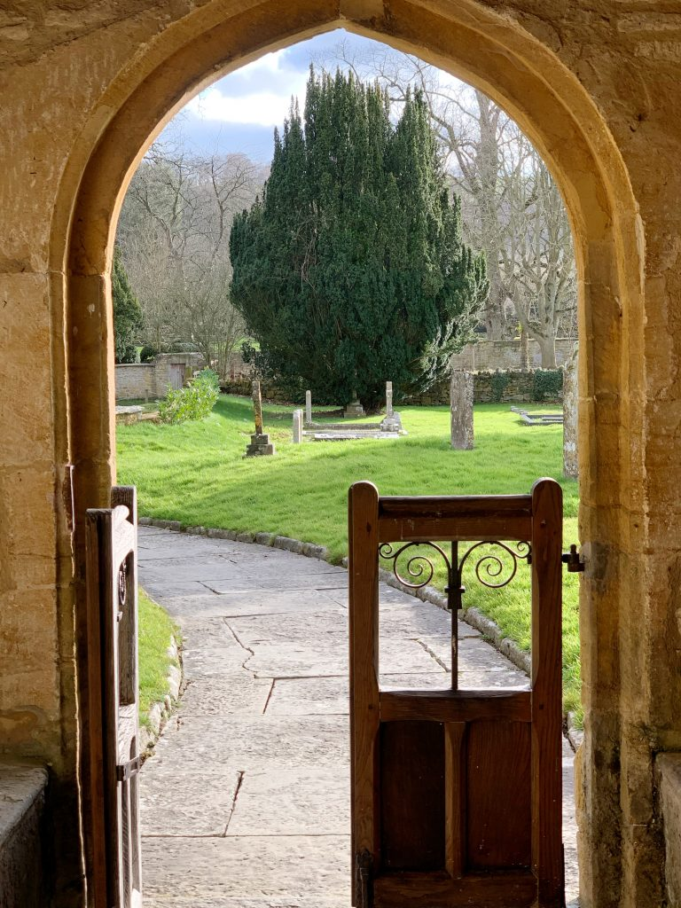 Looking out of the Church of St Mary the Virgin , Compton Pauncefoot, Somerset