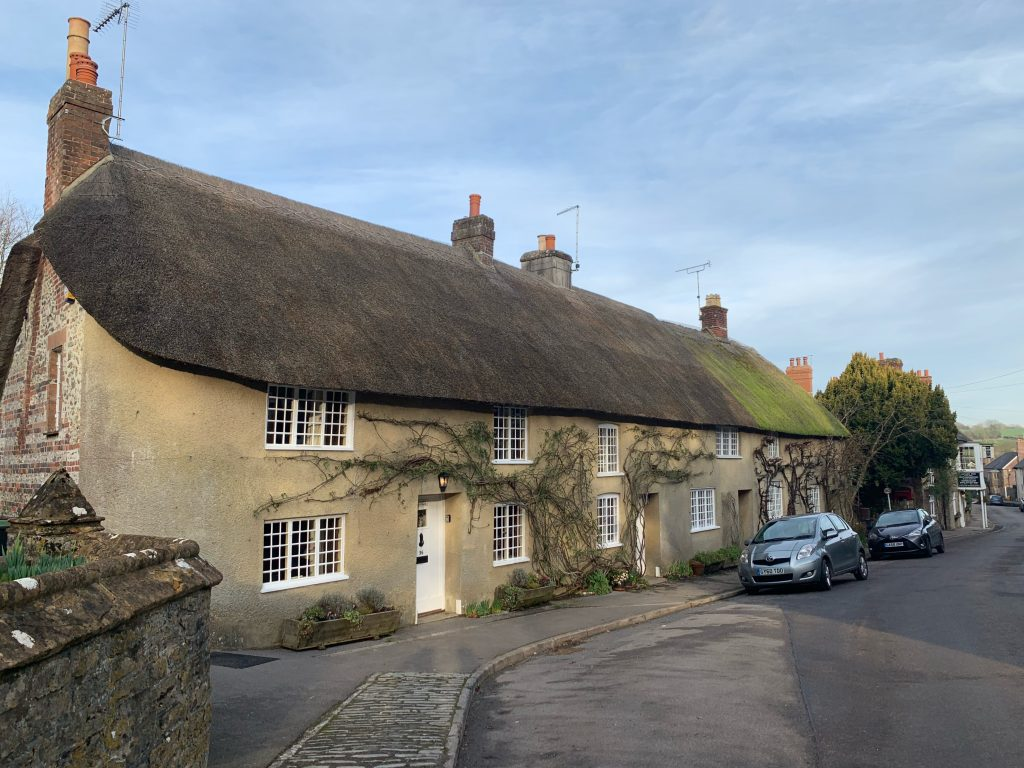A group of Cottages on Fore Street, Evershot, Dorset