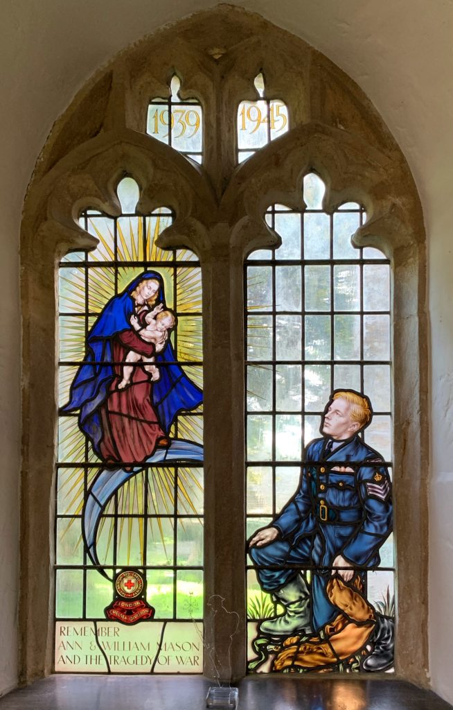 Window in the chancel of the Church of St Mary at Compton Pauncefoot, Somerset