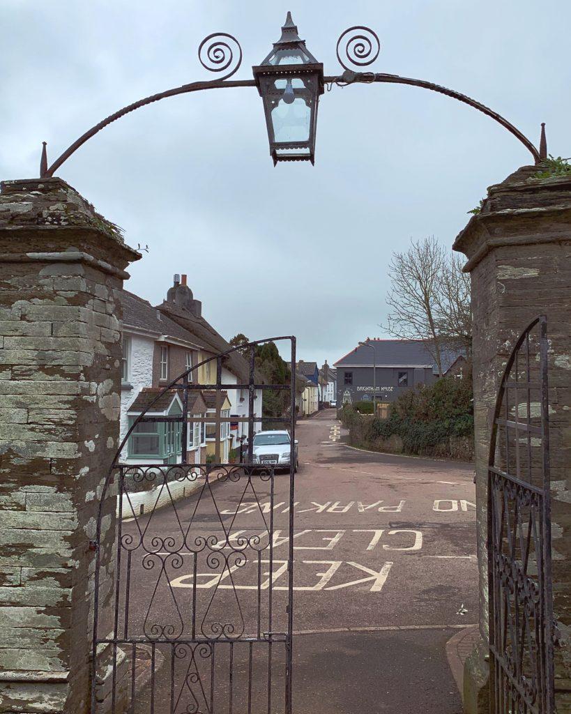 View of Malborough Village from the Church Gate, the South Hams, Devon