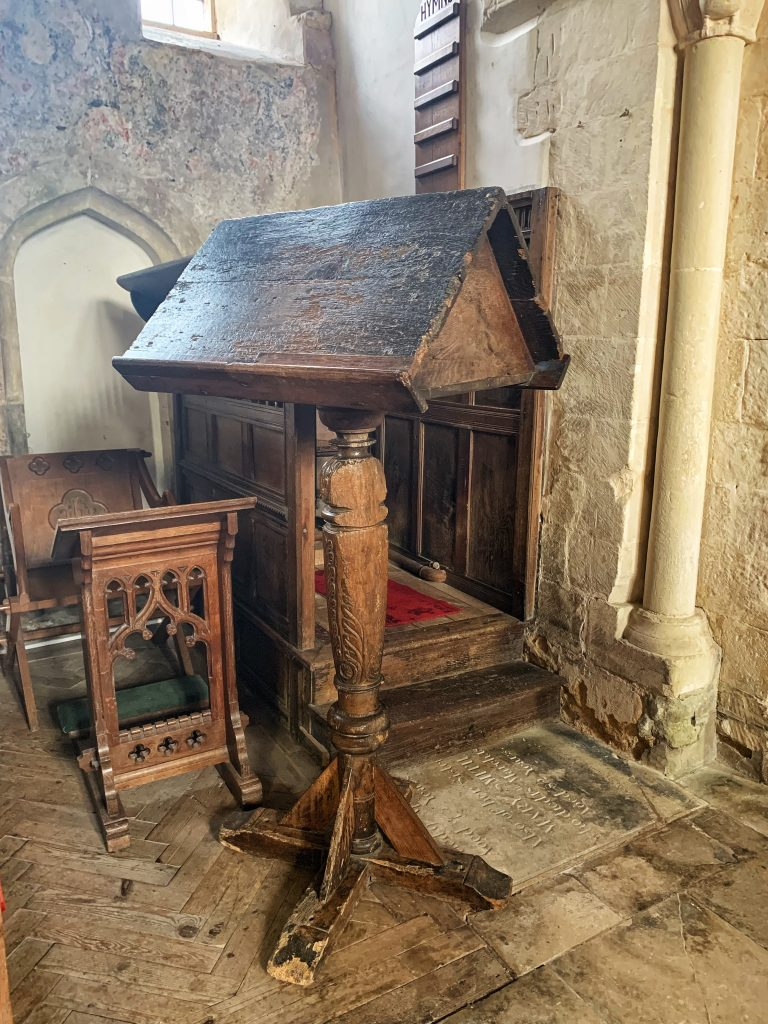 Medieval Lectern at the Church of St Andrew, Great Durnford, Wiltshire
