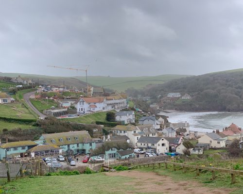 View of Hope Cove from the South West coastal path between Hope Cove and Thurlestone