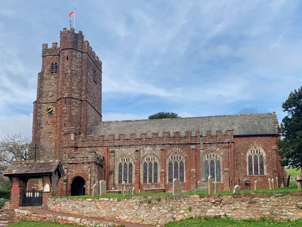 View of the Church of St Andrew at Kenn, near Exeter, Devon