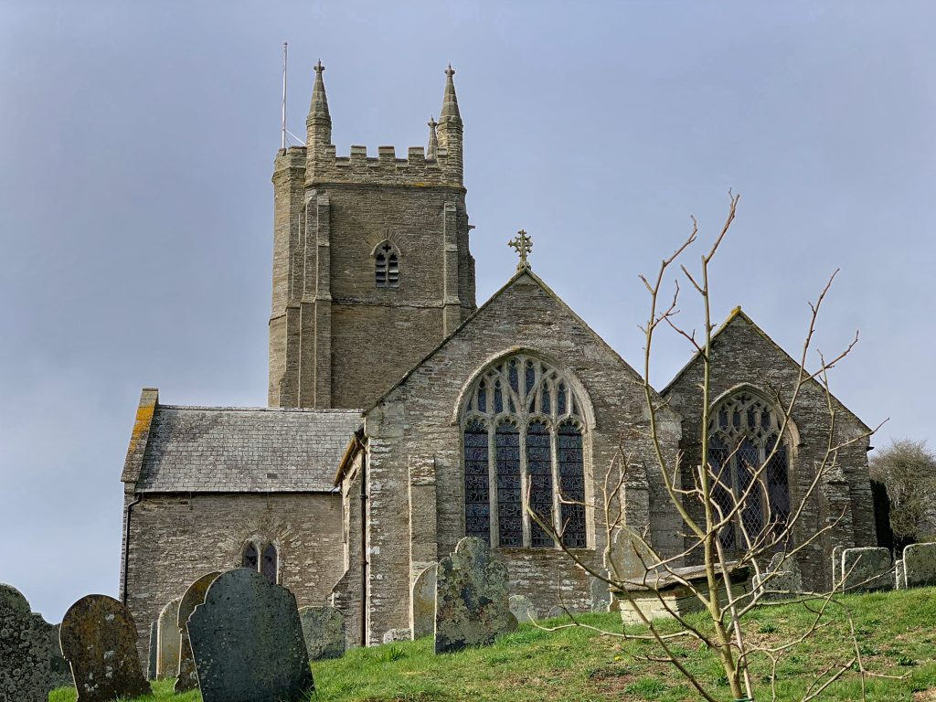 Exterior of the Church of All Saints, SouthnMilton, The South Hams, Devon