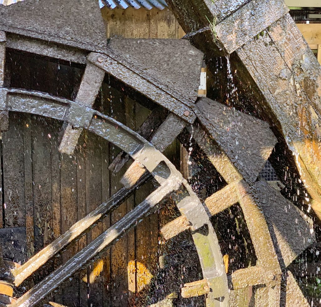 Detail of Waterwheel at Finch Foundry, Sticklepath on Dartmoor
