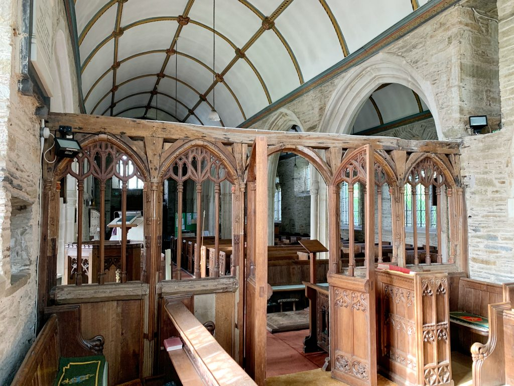 Interior view of Church of All Saints at South Milton, the South Hams, Devon