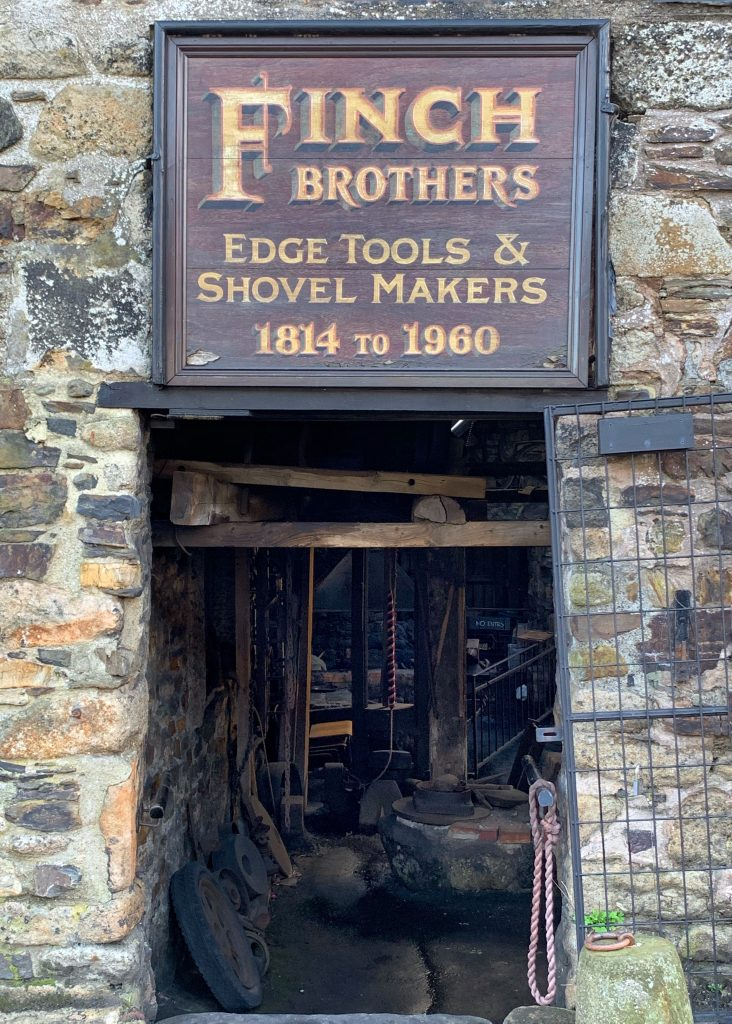 Entrance to the Forge at Finch Foundry, in the village of Sticklepath on Dartmoor