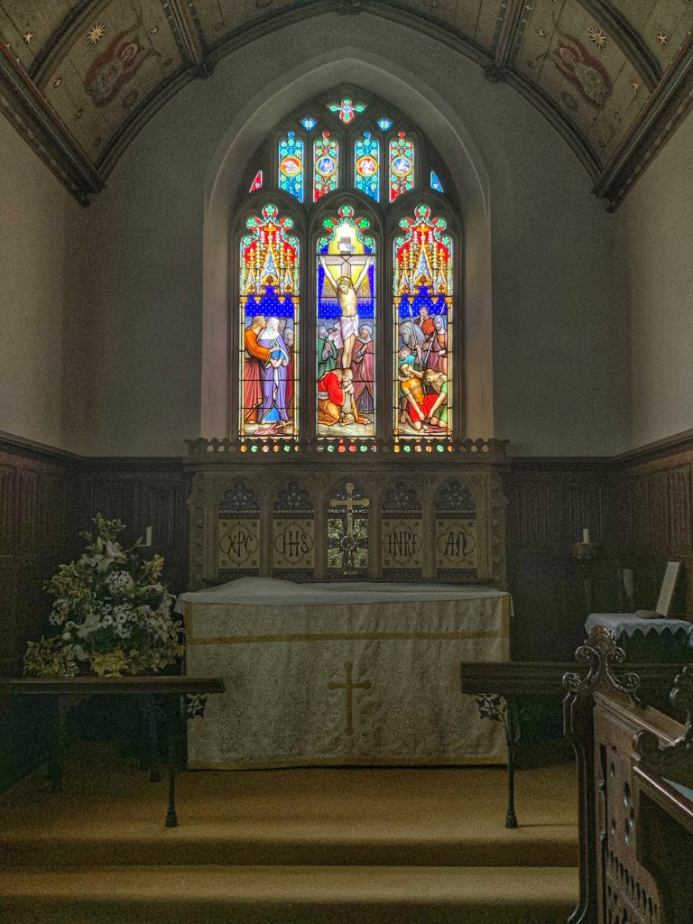 View of the Chancel at St Mary the Virgin, Compton Pauncefoot, Somerset