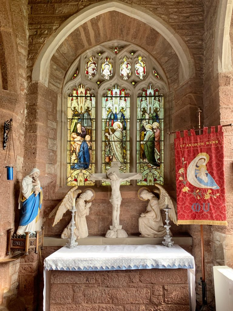 The Lady Chapel at the Church of St Andrew, Kenn, near Exeter, Devon