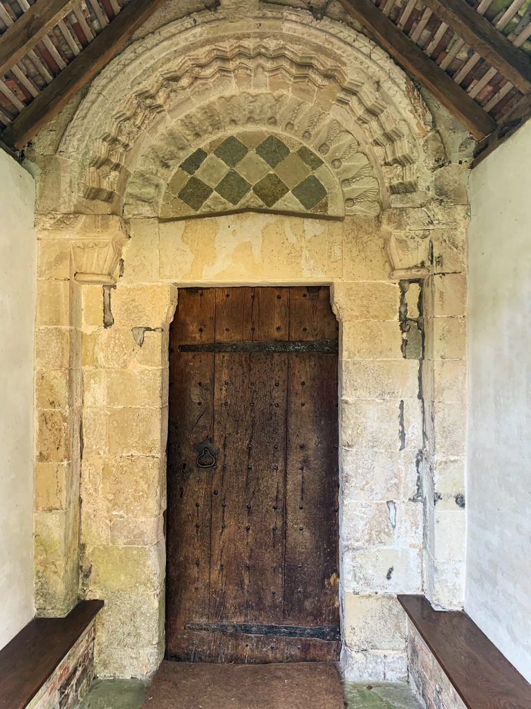 Norman Entrance at the Church of St Andrew, Great Durnford, Wiltshire
