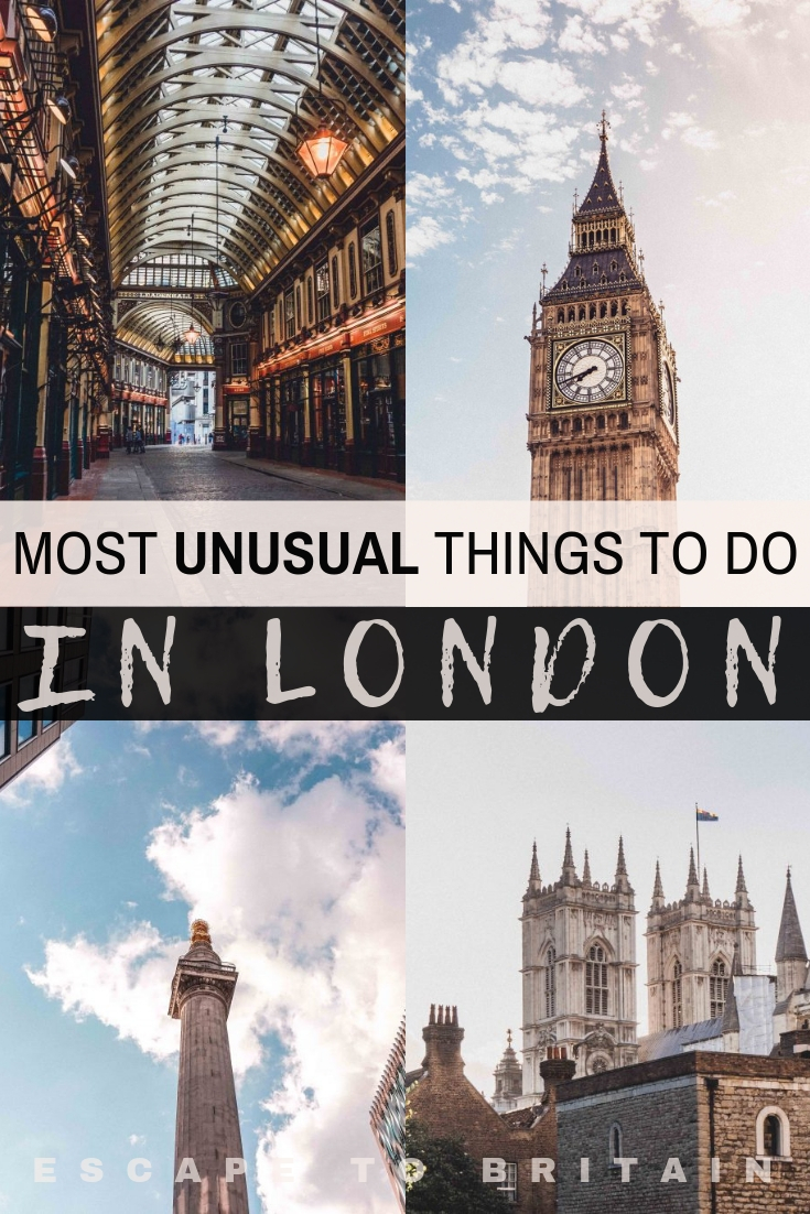If you're in search of the most quirky, alternative, offbeat and unusual things to do in London, capital of the UK, then here's your go to guide for the best hidden gems in London!
