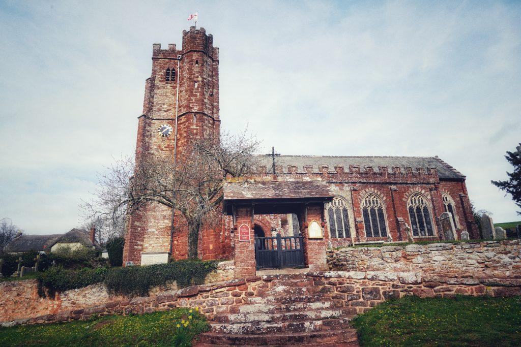 Kenn church in Devon exterior