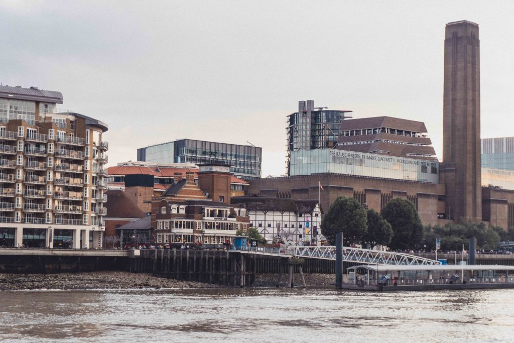 Thames Foreshore overlooking Shakespeare's Globe Theatre