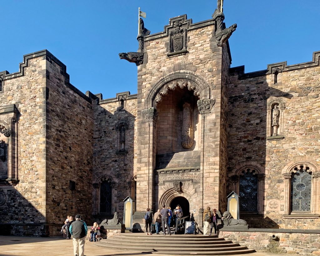 Exterior View of the Scottish National War Memorial at Edinburgh Castle