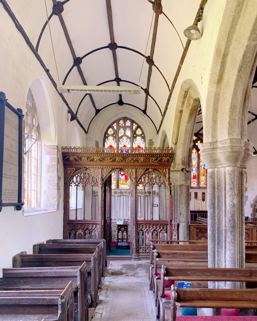 Interior of the Church of St Mary the Virgin, Cheriton Bishop, Devon