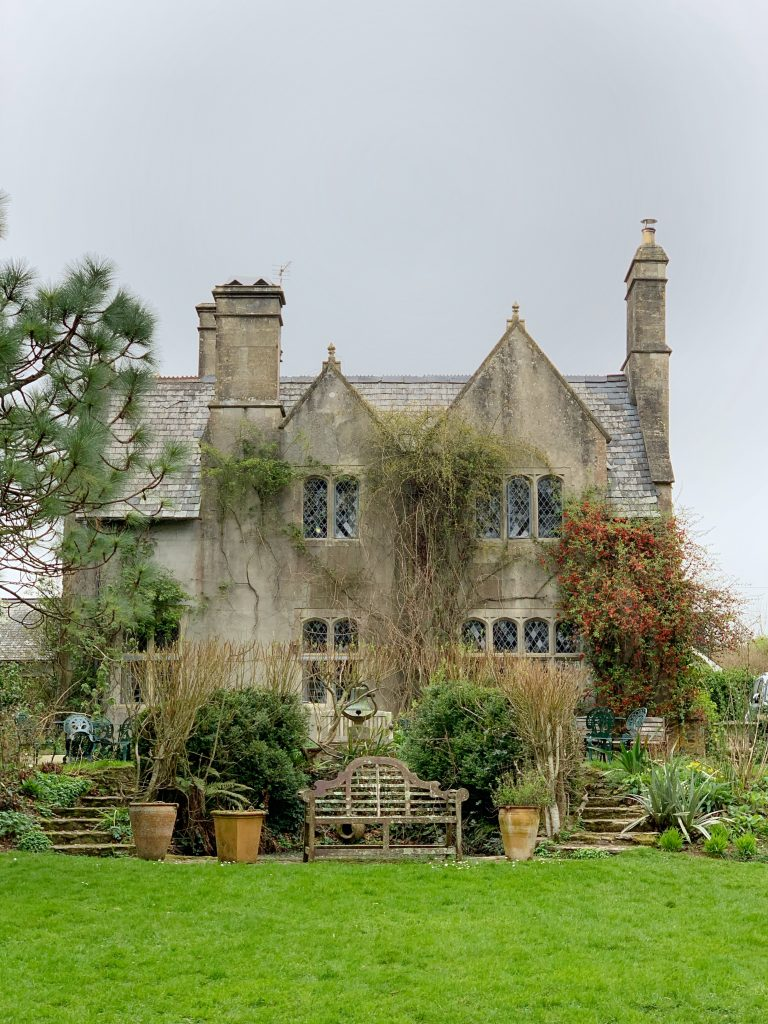 View of the Tearoom (that was the Old Vicarage) at Hill HOuse Nursery, Landscove, Devon
