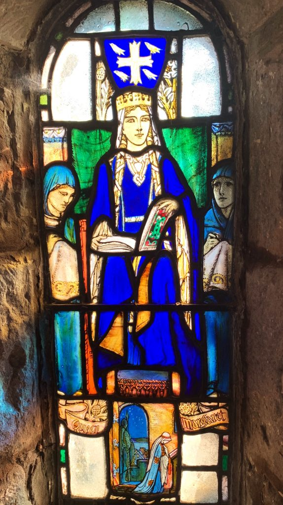 Stained Glass window of St. Margaret in St. Margaret's Chapel, Edinburgh Castle
