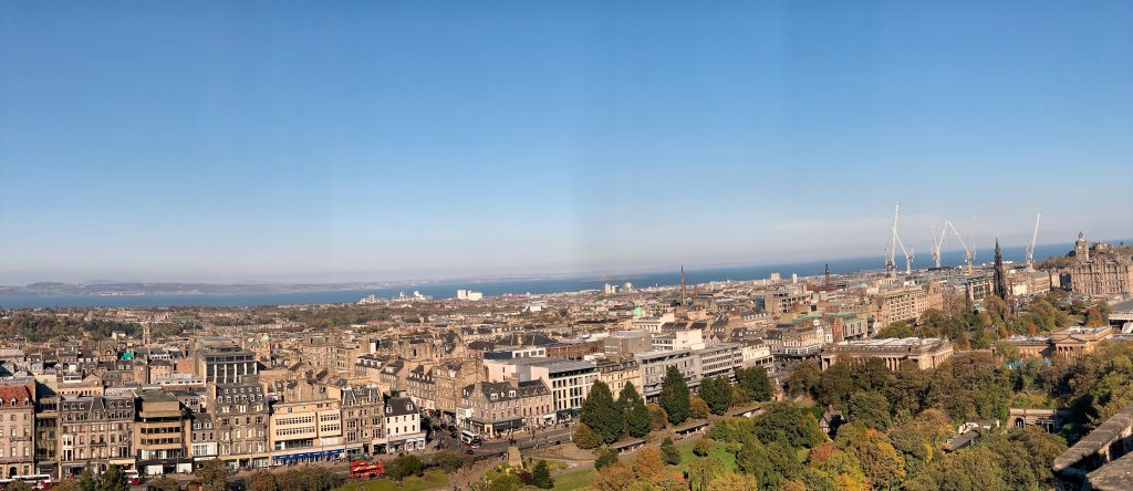 Panoramic view from Edinburgh Castle